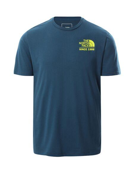 The North Face Men's Graphic Tee Monterey Blue/Sulphur Green