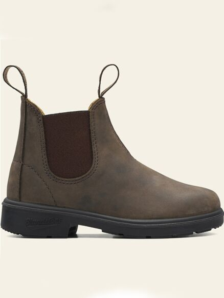 Blundstone Junior 565 Pull On Chelsea Boots Rustic Brown