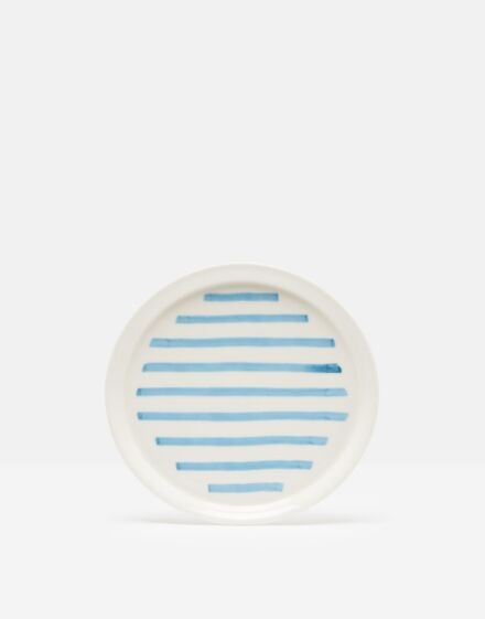 Joules Side Plate Blue Stripe Hand Painted