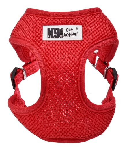 K9 Mesh Harness Red