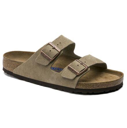 Birkenstock Regular Arizona Soft Footbed Suede Taupe