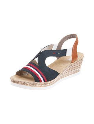 Rieker 619S6-14 Fanni Sandal Black