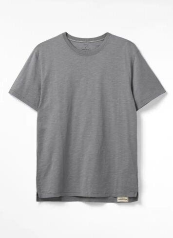 White Stuff Abersoch Organic Plain Tee Grey