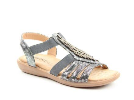 Heavenly Feet Agneta Sandals Pewter