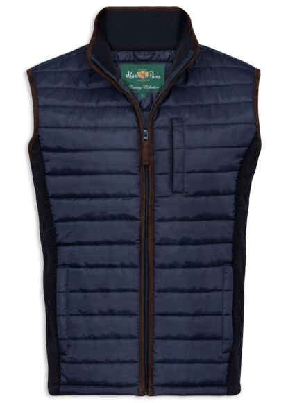 Alan Paine Highshore Men's Quilted Gilet Dark Navy