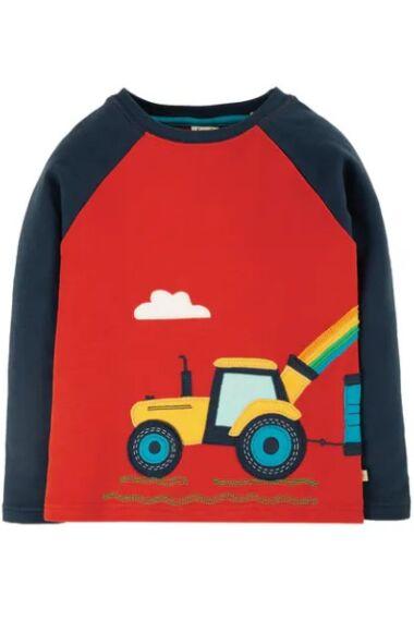 Frugi Albert Applique Top Ginger/Tractor