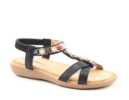 Heavenly Feet Amber Sandals Black