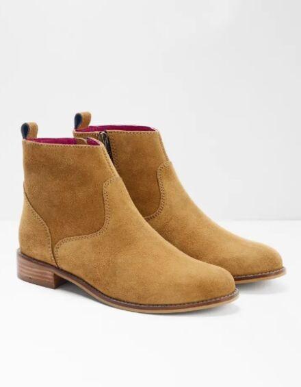 White Stuff Amber Flat Western Ankle Boot Tan