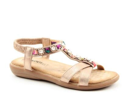 Heavenly Feet Amber Sandals Rose Gold