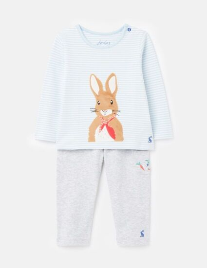 Joules Peter Rabbit Andrew Top & Trouser Set Blue Stripe
