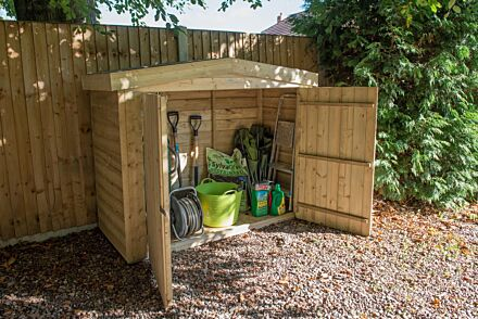 Forest Gardens Apex Large Outdoor Store Pressure Treated-Uninstalled