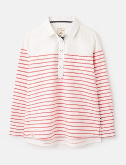 Joules Ashbrook Deck Shirt White Red Stripe