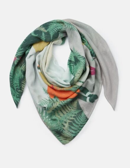 Joules Atmore Scarf Silver Rain