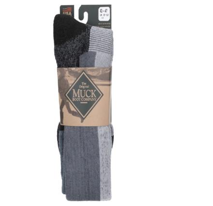 Muck Boots Men's Authentic Rubber Boot Sock Grey Dfs
