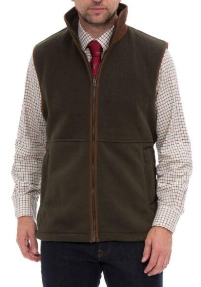 Alan Paine Aylsham Men's Fleece Waistcoat Green
