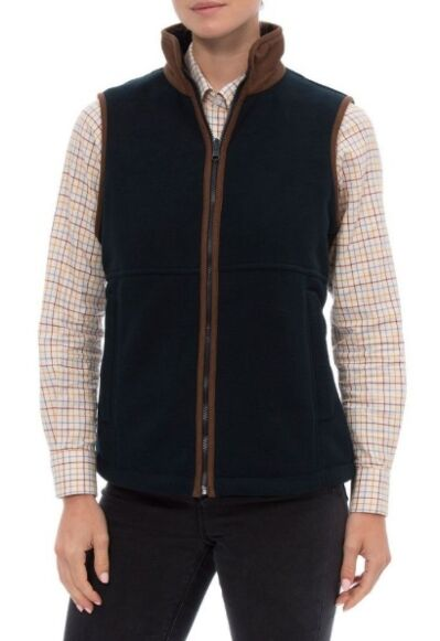 Alan Paine Aylsham Ladies Fleece Waistcoat Dark Navy
