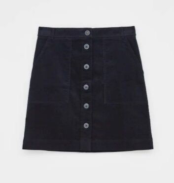 White Stuff Canterbury Baby Cord Skirt Dark Navy