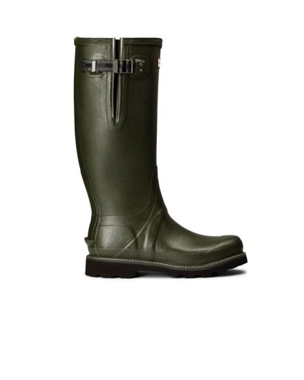 Hunter Balmoral Side Adjustable Commando Boot Dark Olive