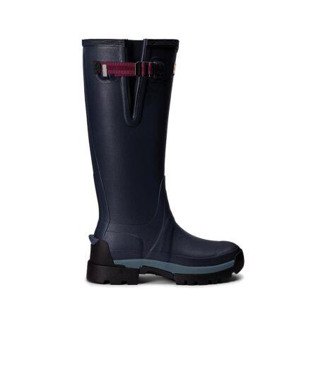 Hunter Women's Balmoral Side Adjustable Neo Tech Sole Boot Navy/Peppercorn
