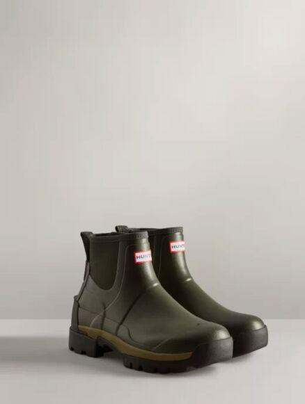 Hunter Men's Field Balmoral Hybrid Chelsea Boot Dark Olive