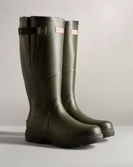Hunter Unisex Balmoral Classic Side Adjustable Boots Dark Olive