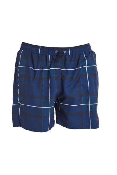 Barbour Tartan Swim Shorts Blue