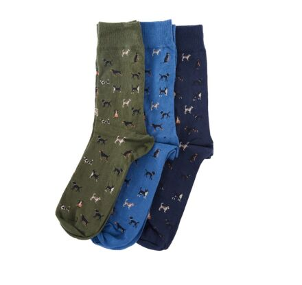 Barbour Dog Motif Socks Gift Box Selection 1