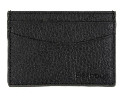 Barbour Grain Leather Card Holder Black