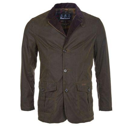Barbour Lutz Wax Jacket Olive