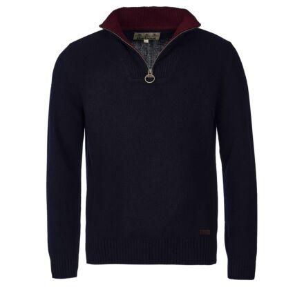 Barbour Nelson Essential Half Zip Sweater Navy