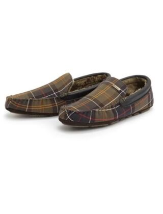 Barbour Mens Monty Moccasin Slippers Classic Tartan