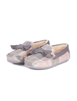Barbour Sadie Mocassin Slippers Pink/Grey