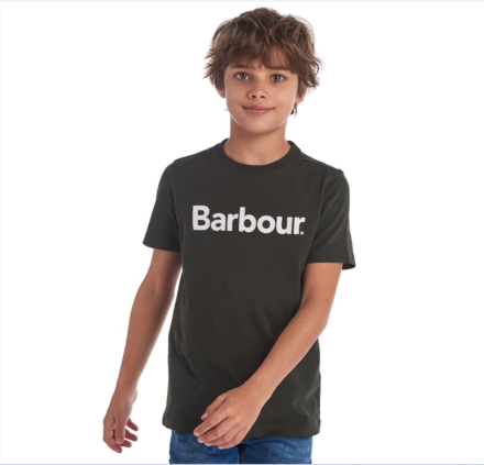 Barbour Boys Logo Tee Forest