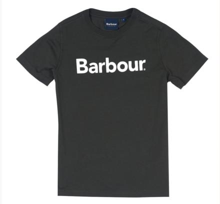 Barbour Boys Logo Tee Forest