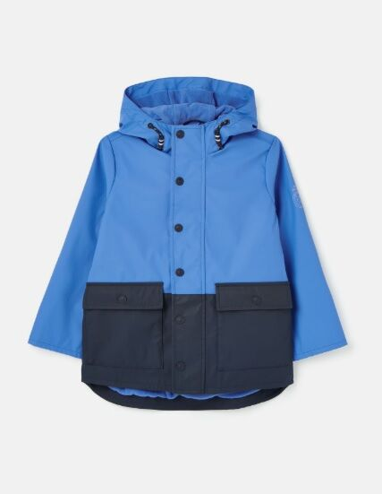 Joules Barton Colourblock Rubber Jacket Navy