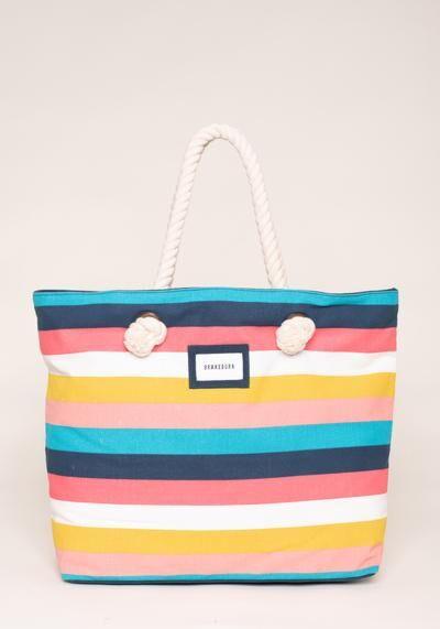 Brakeburn Stripe Beach Bag Multi