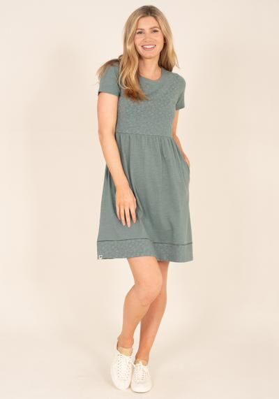 Brakeburn Broderie Dress Green