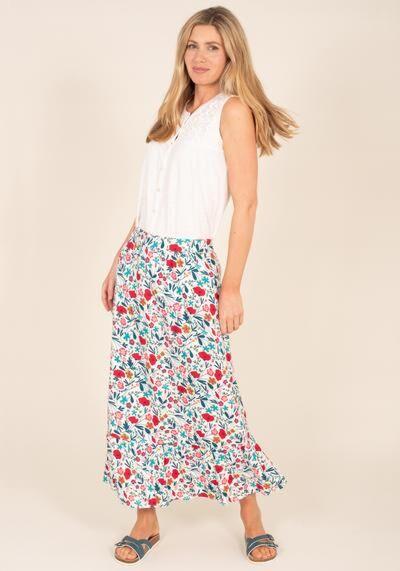 Brakeburn Botanical Midaxi Skirt Multi