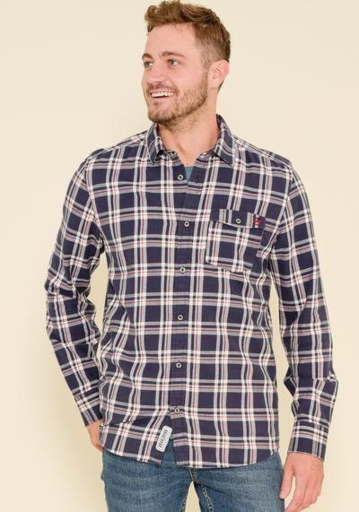 Brakeburn Check Shirt Navy