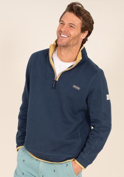Brakeburn 1/4 Zip Sweatshirt Navy