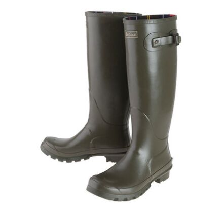 Barbour Womens Bede Wellington Boots Olive