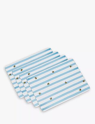 Joules Placemats Pack Of 4 Bee Stripe