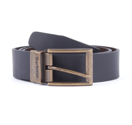 Barbour Reversible Leather Belt Gift Box Black