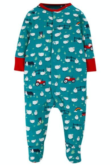 Frugi Lovely Babygrow Sheepdogs