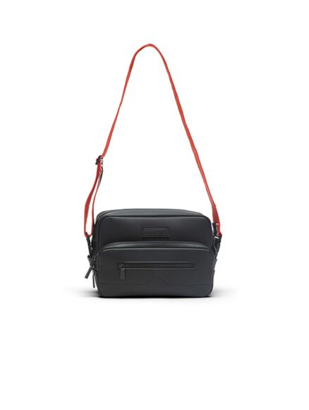Hunter Rubberised Leather Camera Bag - Two Strap Black
