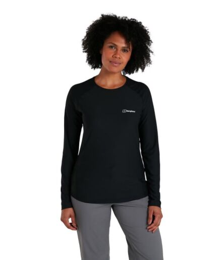 Berghaus Women's 24/7 Long Sleeve Crew Tech Tee Black