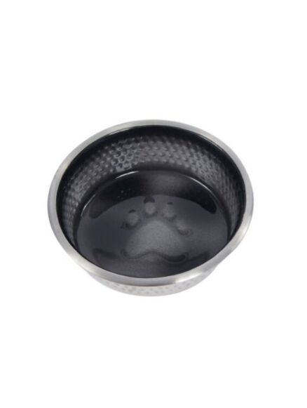 Weatherbeeta Stainless Steel Shade Dog Bowl Black 23cm