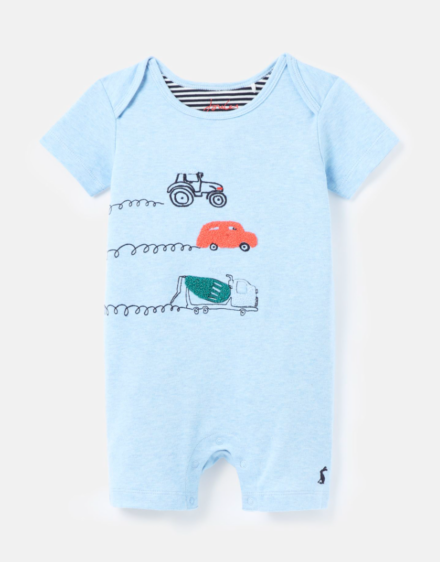 Joules Patch Babygrow Blue Cars