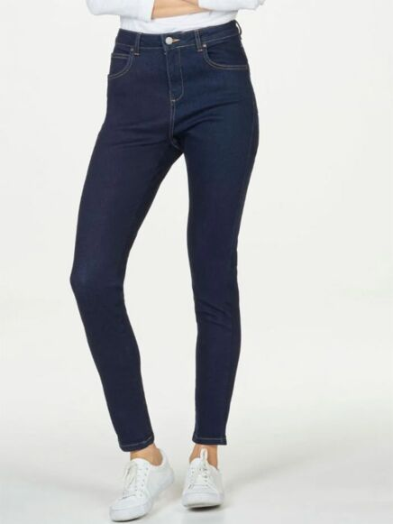 Thought Essential GOTS Skinny Jeans Dark Blue Wash