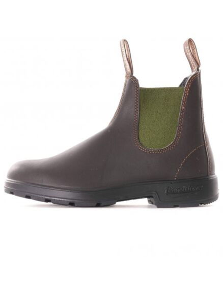 Blundstone 519 Pull On Chelsea Boots Brown/Olive